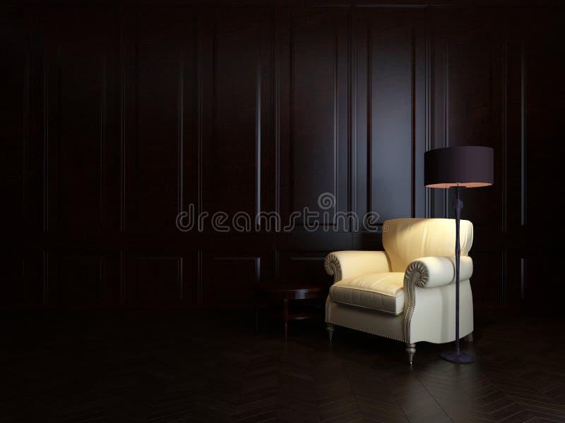 Poltrona e lâmpada de assoalho fotografia de stock royalty free