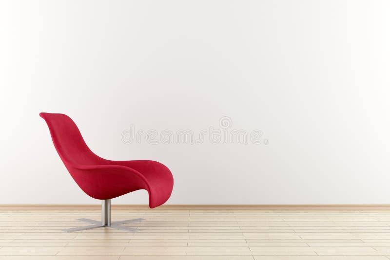 Poltrona vermelha na frente da parede imagem de stock royalty free