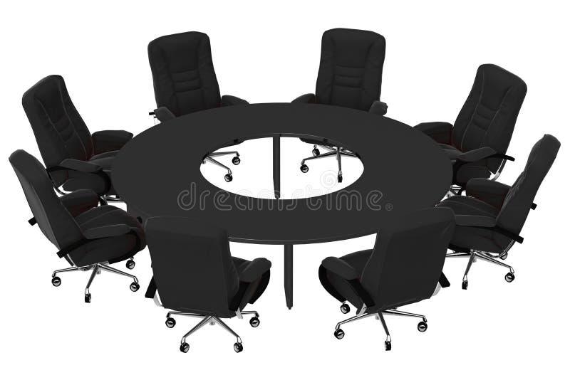 Poltrone isolate dell'ufficio con la tabella 07 illustrazione di stock