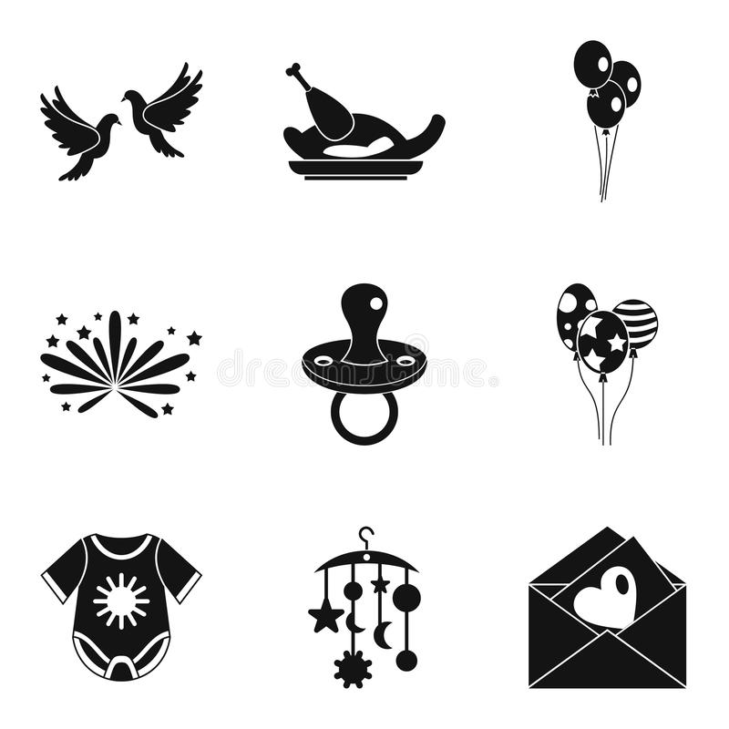 Polubienie ikony ustawiać, prosty styl ilustracji