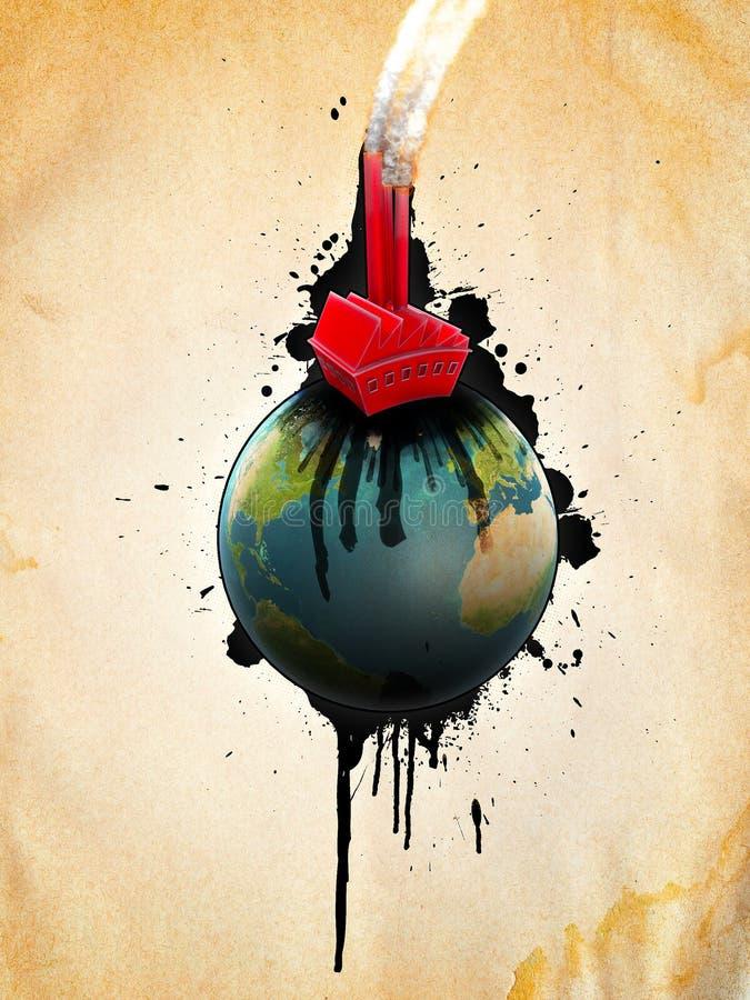 Poluição ilustração stock
