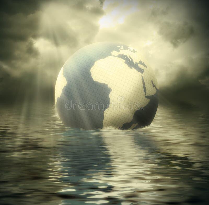 Poluição ambiental ilustração royalty free