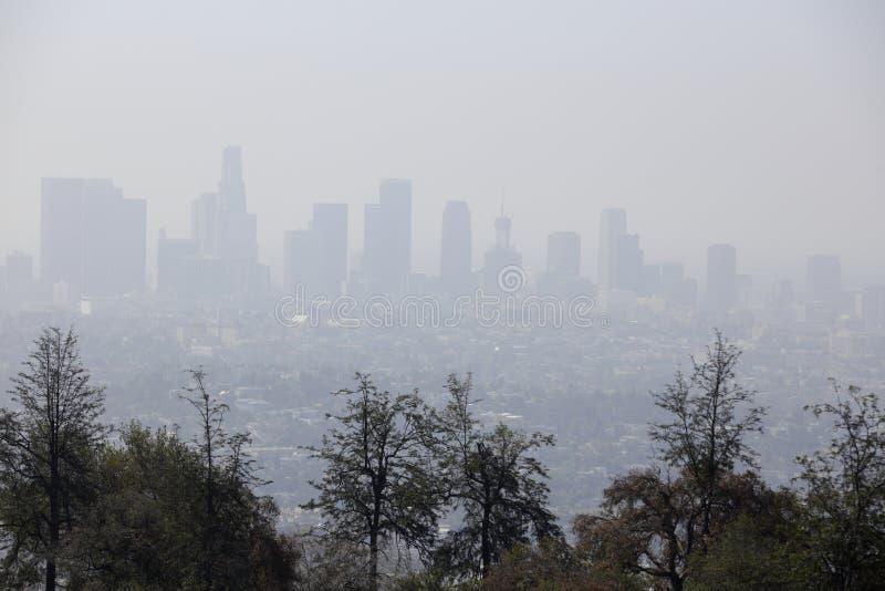 Poluição atmosférica de Califórnia imagem de stock