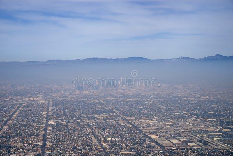 Poluição atmosférica de Los Angeles fotos de stock royalty free