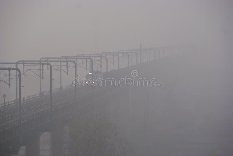 Poluição atmosférica na China Oriental imagens de stock