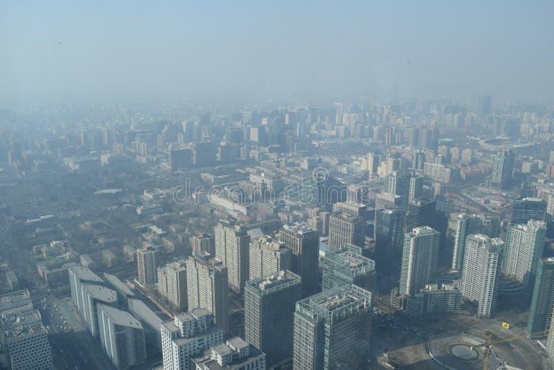 Poluição atmosférica sobre o Pequim fotos de stock royalty free