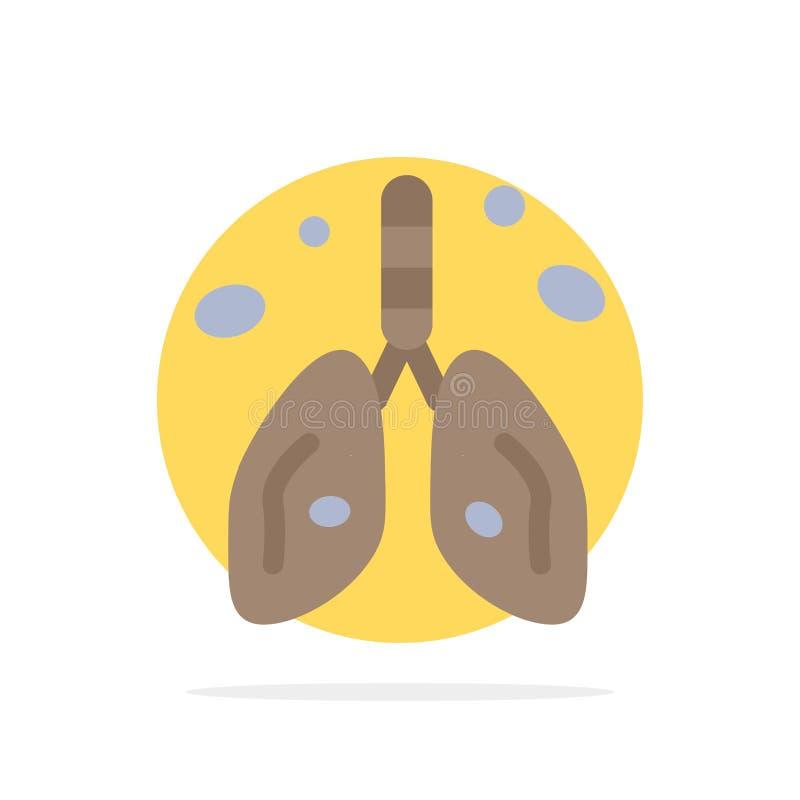 Poluição, câncer ilustração royalty free