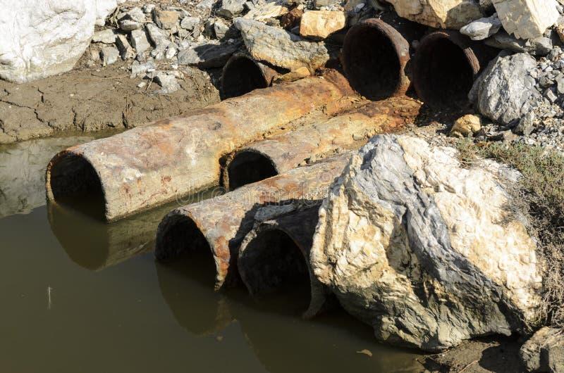 Poluição da água de esgoto imagem de stock royalty free