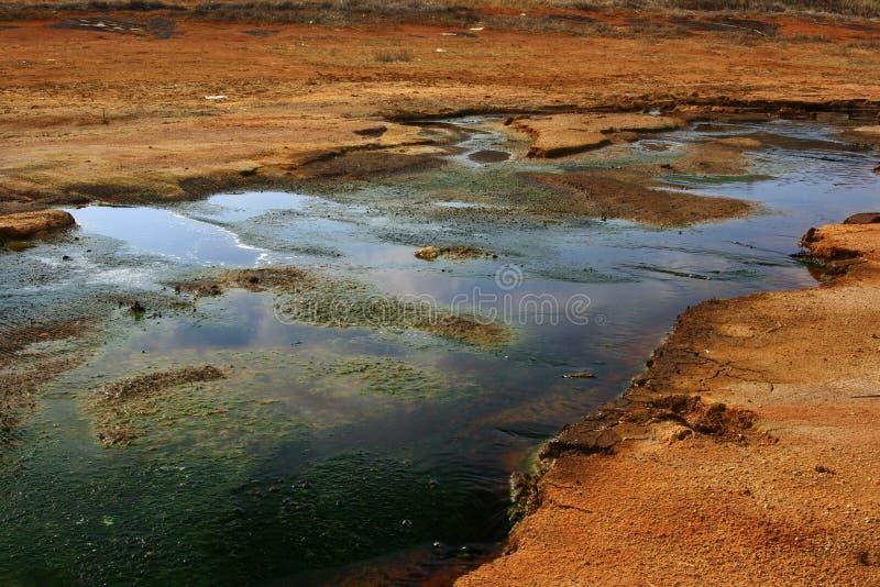 Poluição da água e do solo imagens de stock