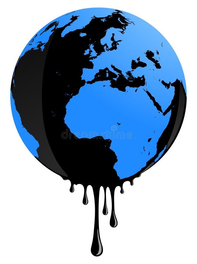 Poluição de petróleo da terra ilustração do vetor