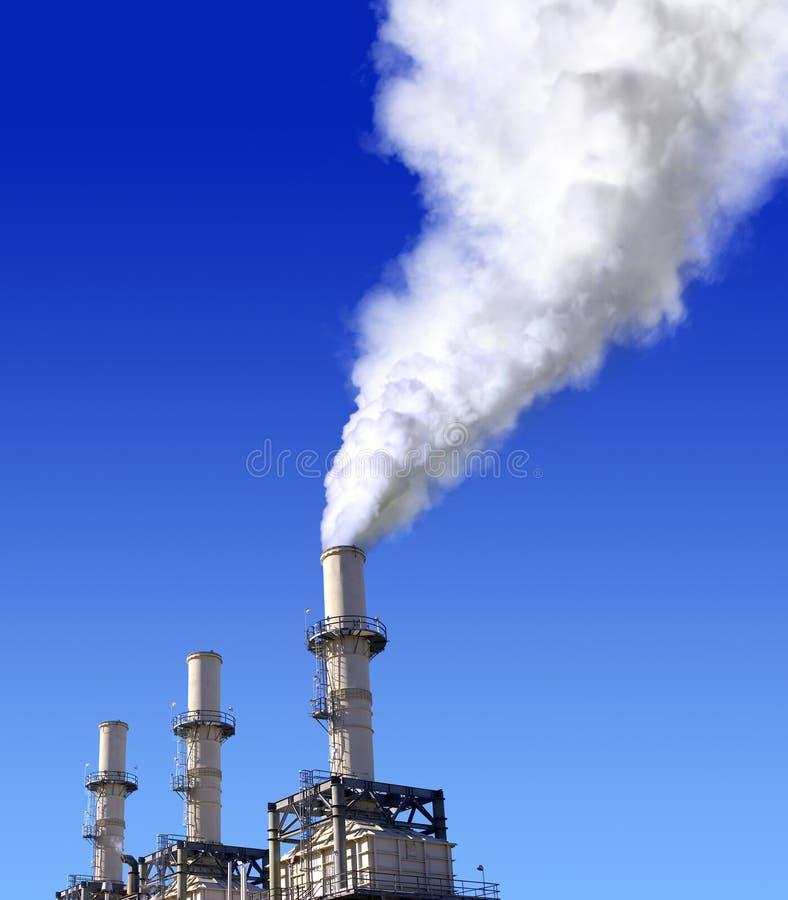 Poluição do ar atmosférica fotografia de stock