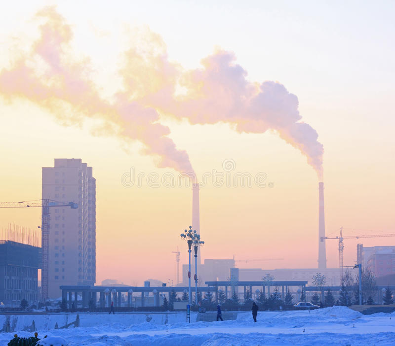 Poluição do ar do Pequim fotos de stock royalty free