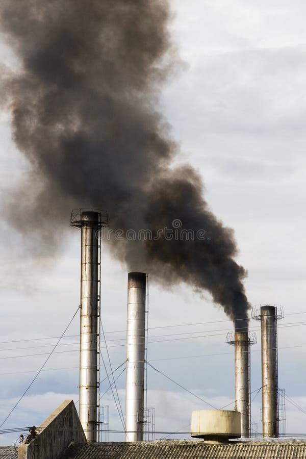 Poluição do ar industrial foto de stock royalty free