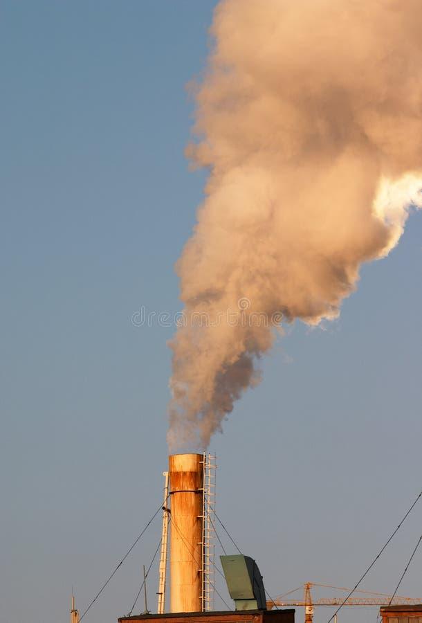 Poluição do ar industrial fotos de stock
