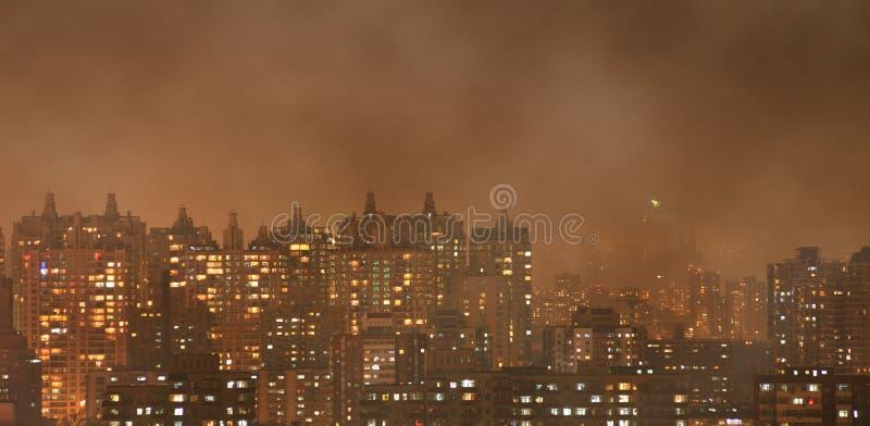 Poluição do ar urbana imagens de stock
