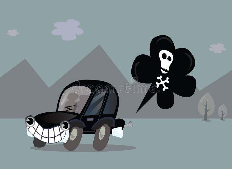 Poluição do carro ilustração stock