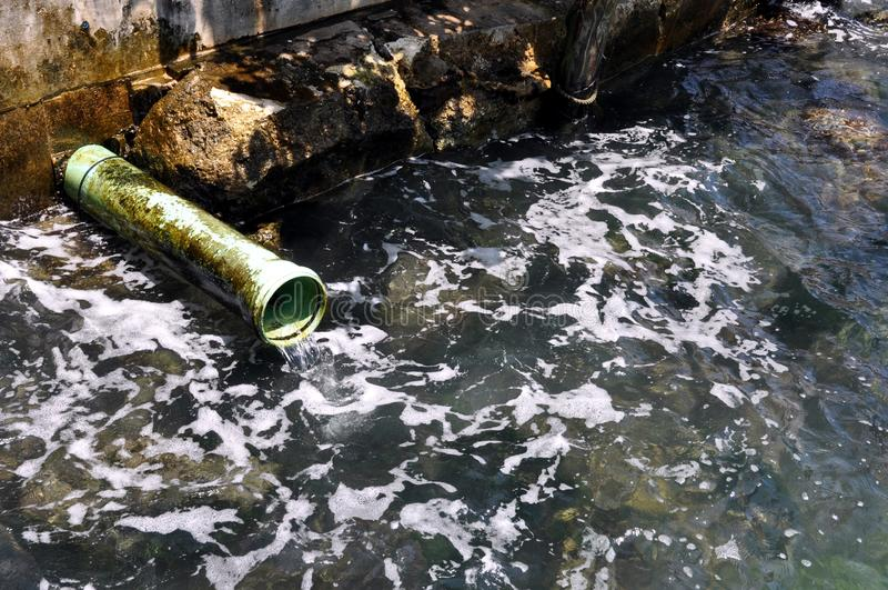 Poluição do oceano fotos de stock