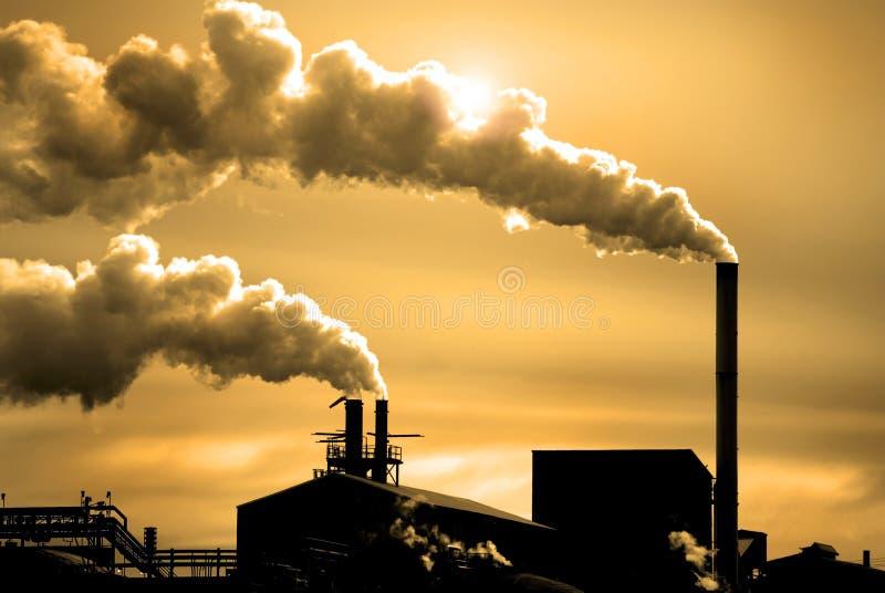 Poluição no ar imagens de stock