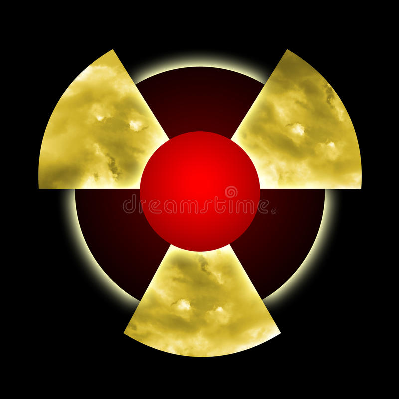 Poluição radioativa ilustração royalty free