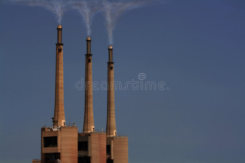 Polution. Sky contamination and polution, source of world overheating royalty free stock photos