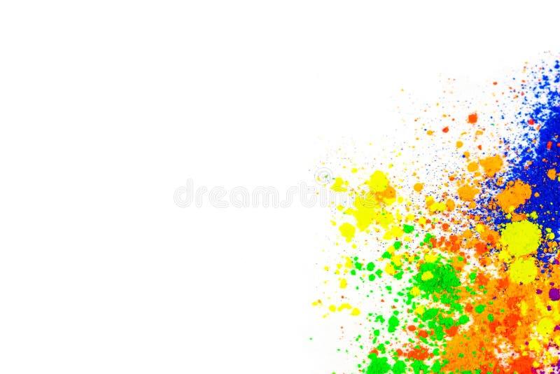 Polvere colorata naturale del pigmento immagini stock