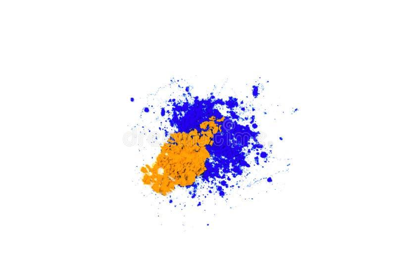 Polvere colorata naturale del pigmento Posto per testo fotografia stock libera da diritti