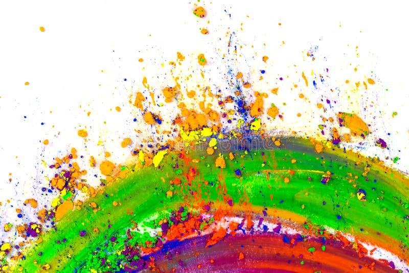 Polvere colorata naturale del pigmento Posto per testo immagine stock