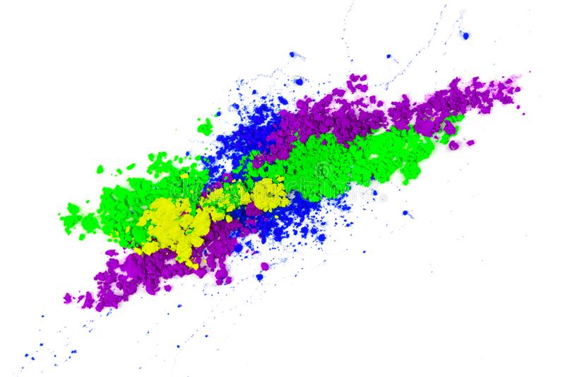 Polvere colorata naturale del pigmento immagine stock libera da diritti