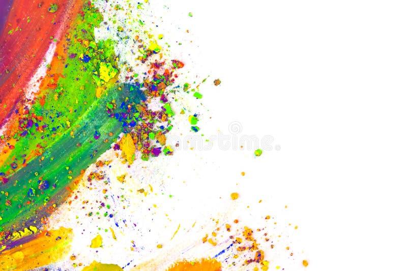 Polvere colorata naturale del pigmento immagine stock