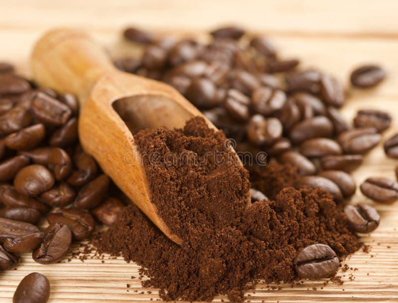Polvere del caffè fotografia stock
