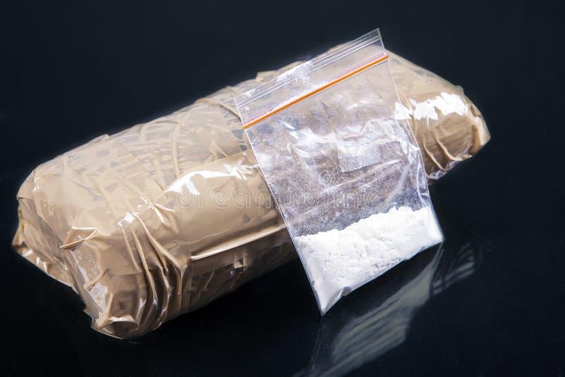 Polvere della cocaina fotografie stock