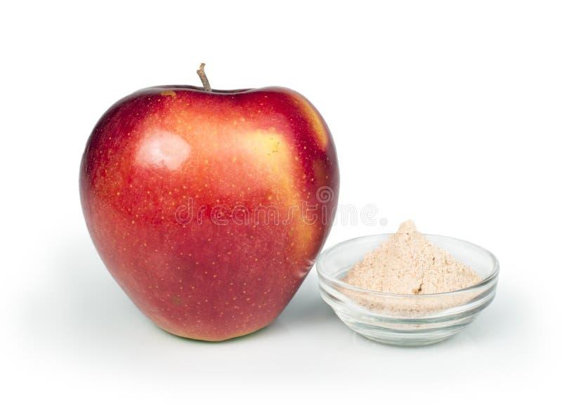 Polvere della pectina e di Apple fotografia stock