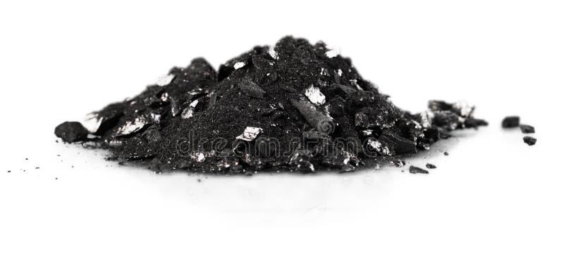 Polvere di carbone fotografia stock libera da diritti