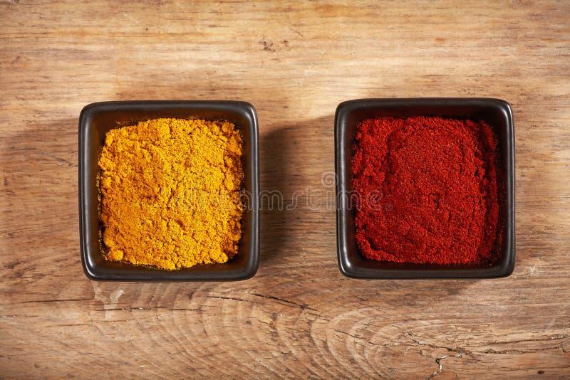Polvere di curry fotografia stock