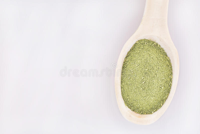 Polvere di Moringa - moringa oleifera immagine stock