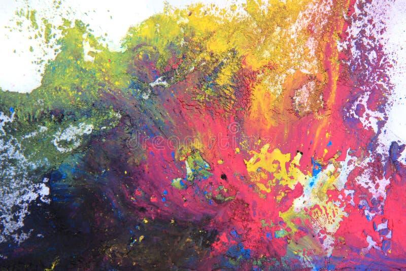 polvere di toner del cmyk (ciano, magenta, giallo, il nero) immagine stock libera da diritti