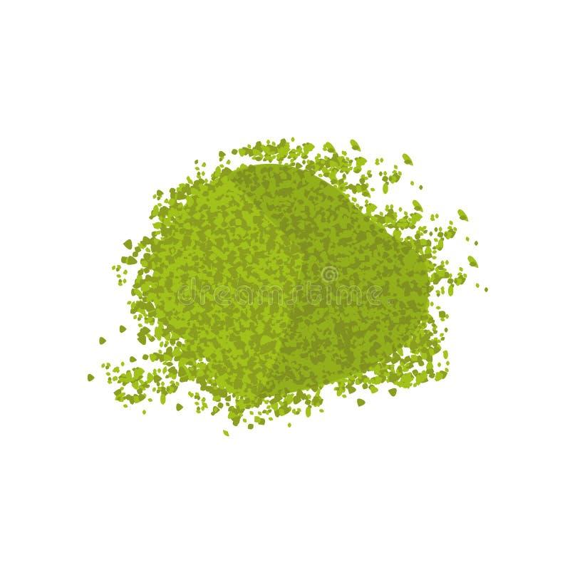 Polvere di verde di Matcha illustrazione di stock