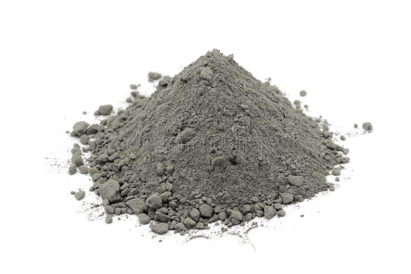 Polvere grigia del cemento immagini stock