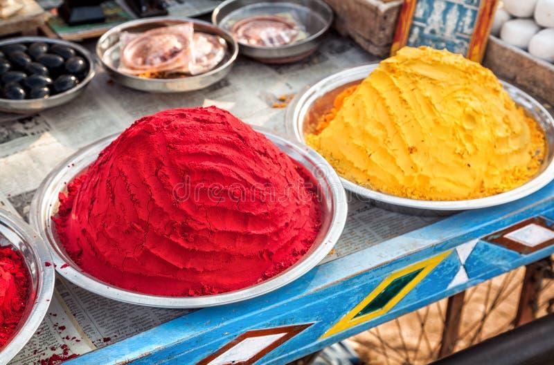 Polveri variopinte indiane fotografie stock