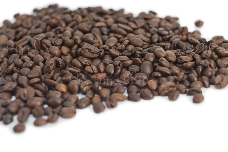Polvilhe dos feijões de café fotografia de stock royalty free