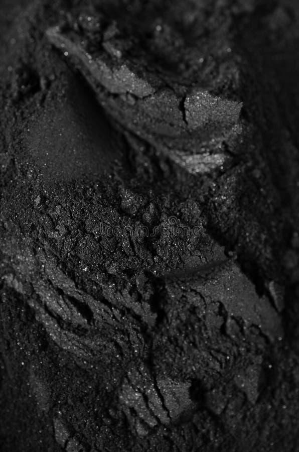 Polvo activado del carbón de leña imágenes de archivo libres de regalías