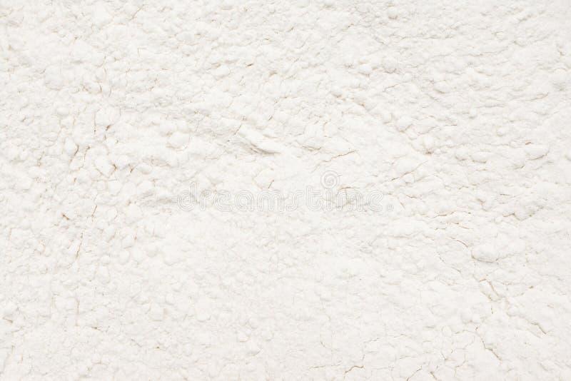 Polvo blanco de la harina de trigo imagenes de archivo