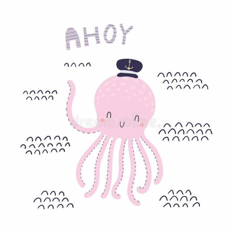 Polvo bonito do marinheiro ilustração royalty free