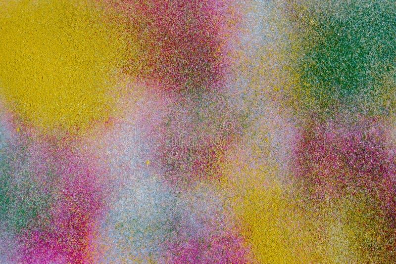 Polvo coloreado multi abstracto fotos de archivo