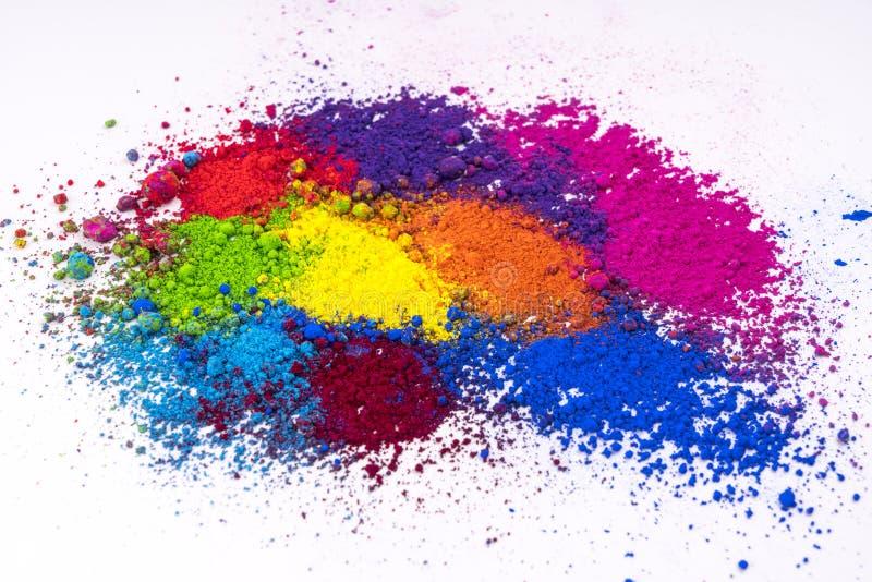 Polvo coloreado multi natural del pigmento foto de archivo