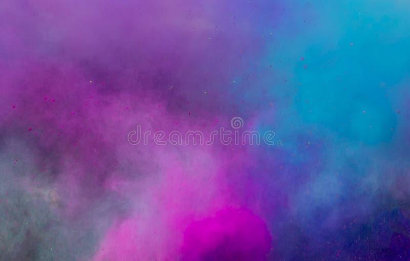 Polvo coloreado nube foto de archivo libre de regalías