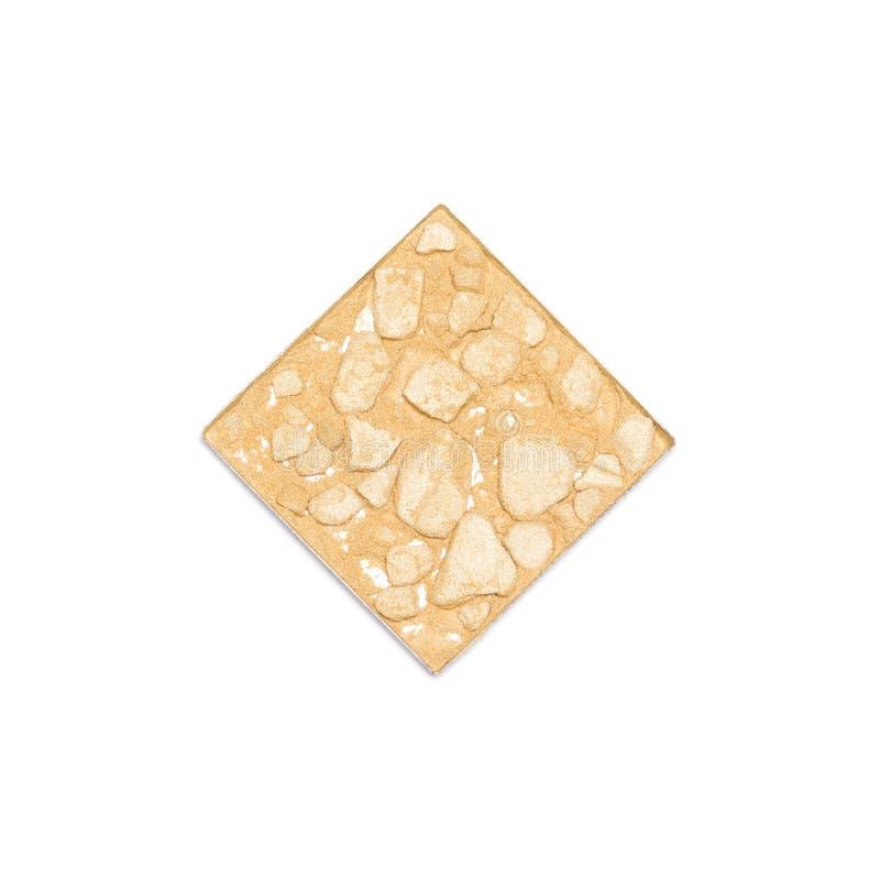 Polvo de cara de oro compacto machacado del reflejo aislado en blanco fotografía de archivo