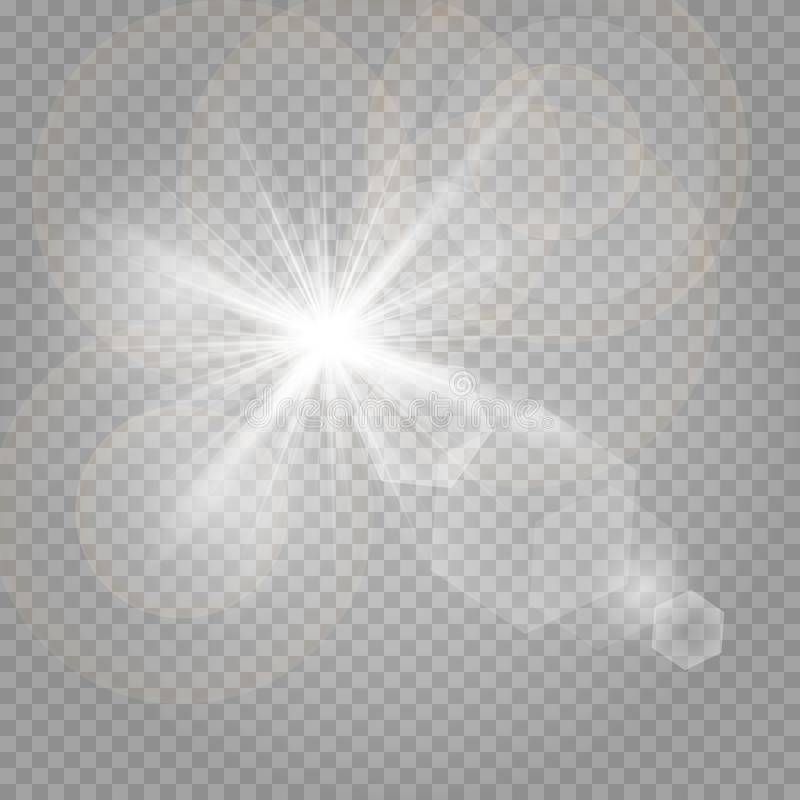 Polvo de estrella, millares de luces brillantes stock de ilustración