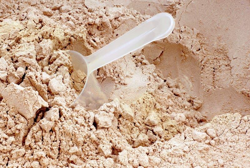 Polvo de la proteína. imagenes de archivo