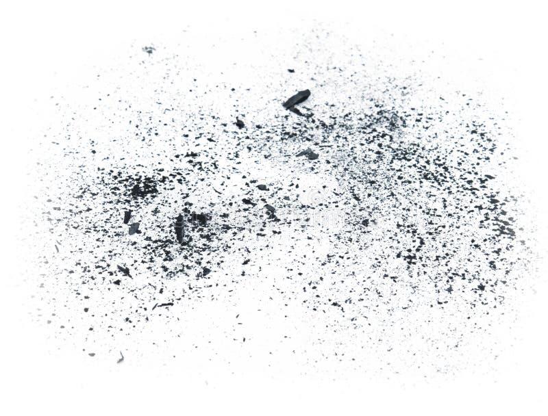 Polvo del carbón de leña foto de archivo